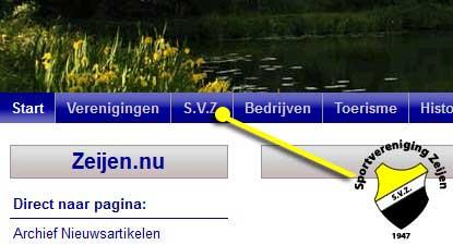 Nieuwe website SVZ