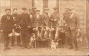 Jachtgezelschap begin 1900